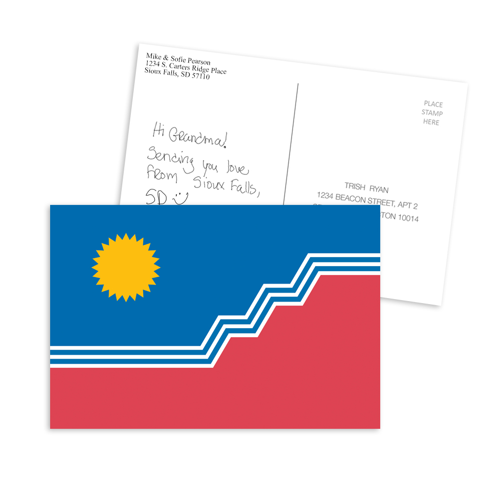 "SF Flag 6x4"" Postcard Set of 4"
