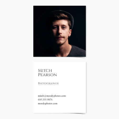 Sq. Business Card | Front Text