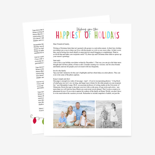 Holiday Letter 002
