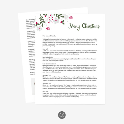Holiday Letter 0293