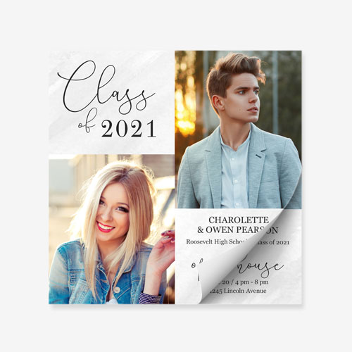 Graduation, Announcement, Invite, Grad Pad, Tear Offs, Class of 2021