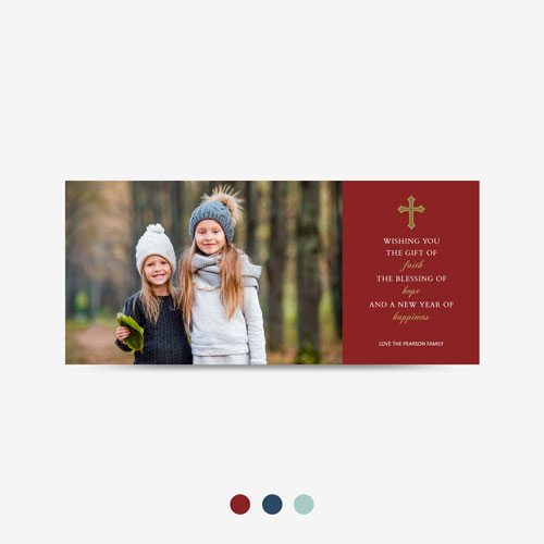 Religious Christmas Photo Card