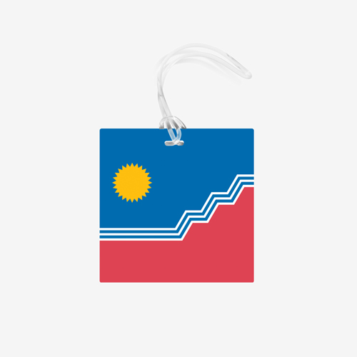SF Flag Bag Tag