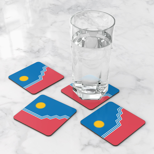 SF Flag Coaster Set of 4