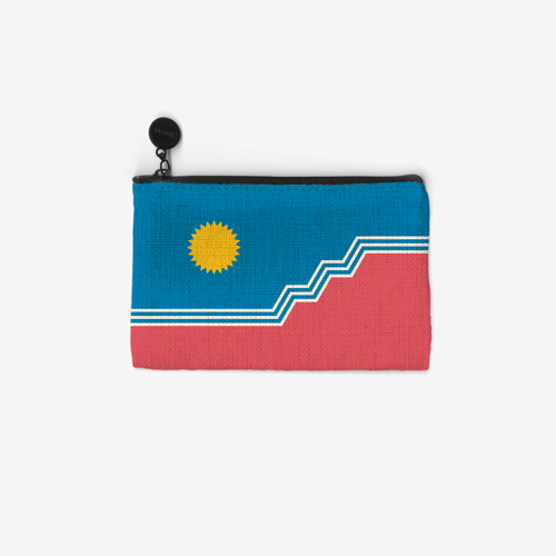 SF Flag Linen Coin Purse