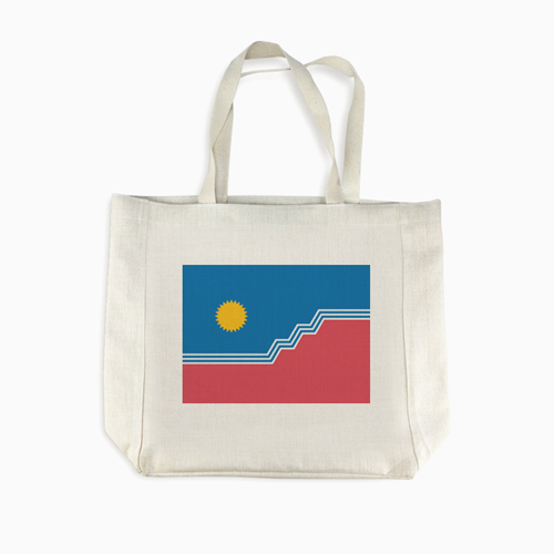 SF Flag Linen Shopping Bag
