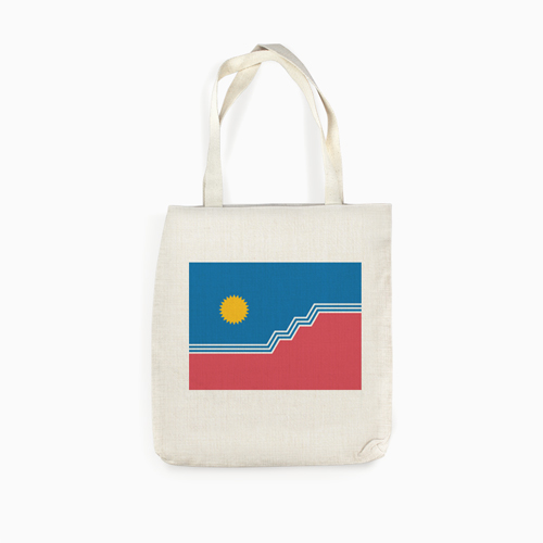 SF Flag Linen Tote Bag