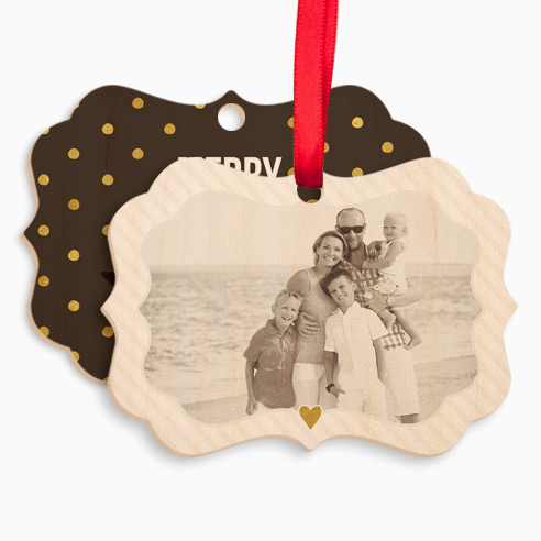 Wood Vintage Ornament 004