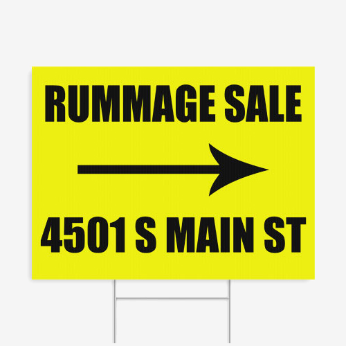 24x18 Yard Sign Rummage 01