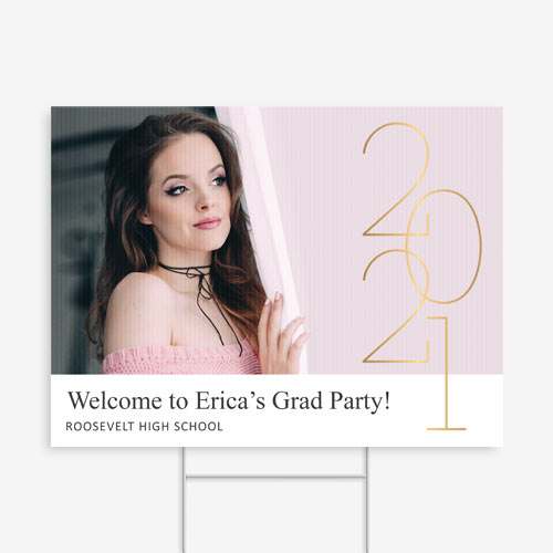 Graduation, Announcement, Invite, Yard Sign, Class of 2021