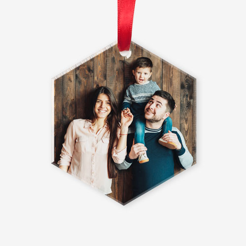 Our clear Acrylic Photo Ornament allows your photo to be viewed from either side!
